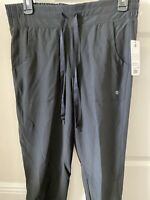 Apana Joggers Women's Black M  Pockets Cropped Capri Length Elastic NWT