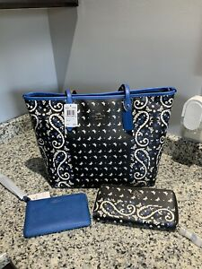 COACH Butterfly Bandana City Zip Tote With Matching Accessories. F59329. NWT.