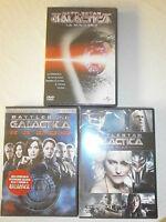 BATTLESTAR GALACTICA (RAZOR-THE PLAN-LA MINISERIE) IN 3 DVD NUOVI DA NEGOZIO !!!
