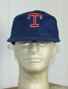 Vintage 90s Texas Rangers Plain Logo Snapback Hat Cap