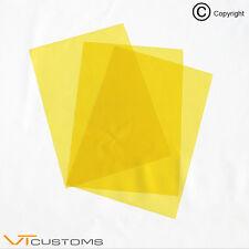 3 feuilles de x A5 - or jaune phare Film pour Fog Lights teinte voiture vinyle Wrap