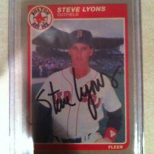 1985 Fleer Update Steve Lyons Auto Signed Card