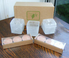 3 Embrace Life Candle Holders & 6 Tealight Candles Nib