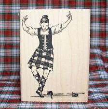 Scottish Highland Sword Dancer * Premium Rubber Stamp Scotland Highland Dance