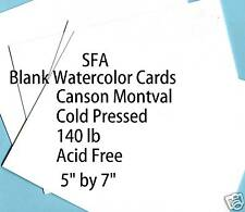 "25 SFA precut Canson 140# Acid Free WC cards 5"" by 7"""