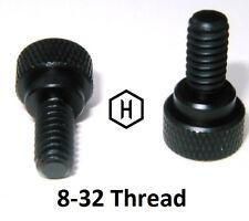 "8-32 x  3/8"" Knurled Thumb Screw (50 Pieces) Aluminum Black Anodized Finish"