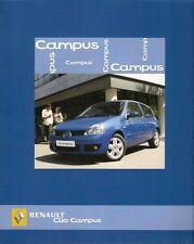 Renault Clio Campus 2006-07 UK Market Sales Brochure Standard Sport i-Music