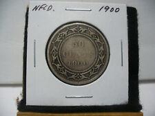 1900  CANADA  SILVER  HALF  DOLLAR  50 CENT PIECE  00  NEWFOUNDLAND  STERLING