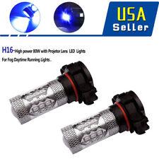 YTIAMOTOR Blue H16 5202 PS24WFF 80W LED Fog Light Bulbs For Chevrolet Silverado