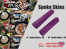 "Wheel Spoke Protectors Purple 18"" 21"" fits Thumpstar Thumpstar Pit Bike all"
