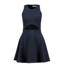 Elizabeth and James. Abella flared cutout mini dress. Navy. UK 8. BNWT. RRP £355