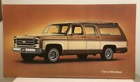 Vintage 1979 Chevrolet Suburban Dealership Display Poster