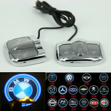 2PCS Car Door LED Laser Projector Welcome Logo Ghost Shadow Lights Badge For Car