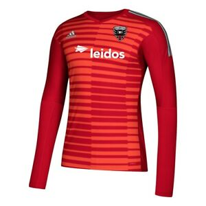 D.C. United MLS Adidas Men's Red AdiPro Long Sleeve Goalkeeper Jersey
