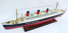 "Queen Mary Special Edition Cruise Ship 40"" - Handcrafted Wooden Ship Model NEW"