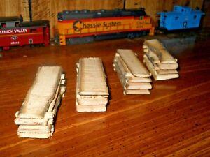 O-S-HO scale rough cut lumber wood slabs for flatcars and sawmills