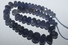 136CARTS 6to11MM NATURAL GEMSTONE IOLITE FACETED RONDELLE BEADS STARND #979