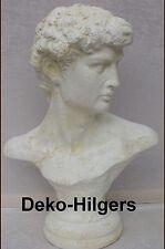 Büste David Deko Figur Stuckgips Möbel Michelangelo Kopf Säule Auf Alt Crem 2343
