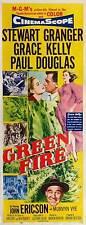 GREEN FIRE Movie POSTER 14x36 Insert Stewart Granger Grace Kelly Paul Douglas