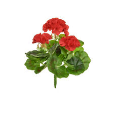 Geranium Bush Artificial Silk Upright 23cm Red Hanging Basket Window Box Flower