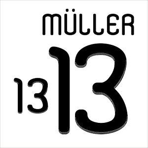 Muller 13. Germany Home football shirt 2010 - 2012 FLEX NAMESET NAME SET PRINT
