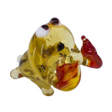 Miniature Tiny Lampwork Hand Blown Glass Crab With Red Claws Figurine New