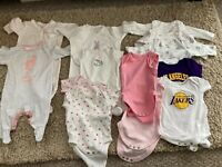 Bundle of Baby Girls Clothes: Babygrows & Bodysuits - 0-3 months
