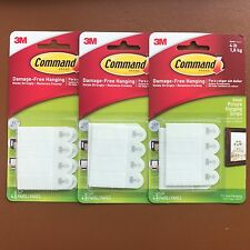 12 x 3M Command Small Strips Adhesive Damage Free Wall Picture Poster Hanging