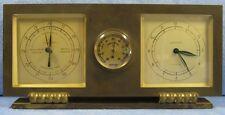 rare réveil mécanique 8 Jours avec baromètre et thermomètre, Barotherm, art déco