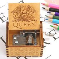 Cuzit Greatest Hits Queen Spieluhr, geschnitzt, mit Handkurbel, aus Holz