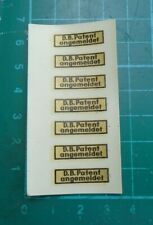 More details for hofner pick up labels/decals/stickers, 1960's unused 7 on the sheet