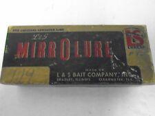 Mirrolure Lure Vintage Box L & S Bait Co 25M24 Flash Action