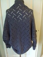 Peruvian Connection XS Heathered Gray Wool Alcapa Rounded Cardigan Sweater