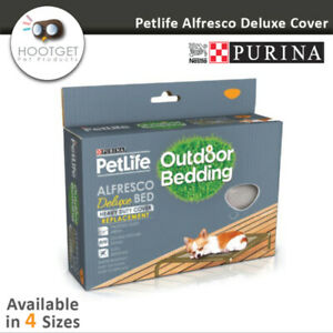 [4 Sizes]Purina PetLife Alfresco Deluxe Dog Bed Replacement Cover-Pet Puppy Dog