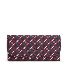 Kipling SUPERMONEY Large Purse/Wallet RED TILE PRINT -  SS18 RRP £49