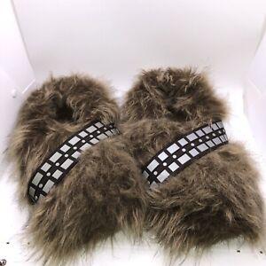 Star Wars Chewbacca Chewie Wookie Fur Slippers Lucas Film Size 10/11 Adult