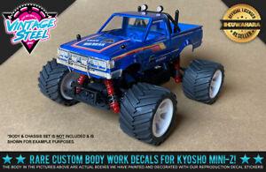 "Kyosho Mini-Z Marui ""BIG BEAR"" Repro 1/24 R/C Body Decals - Blue - MB01 Buggy"