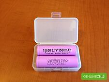 10x GENUINE LG HB6 18650 1500mAh 30A High Drain Rechargeable Battery Flat Top