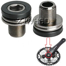 2pcs M12 Full Speed Ahead FSA Crank Arm Bolts screw with Caps ISIS Bike Bicycle
