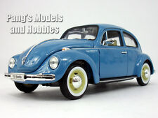 Volkswagen (VW) Classic Beetle 1/24 Scale Diecast Metal Model by Welly - BLUE