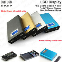 5V 2A Dual USB 3.7v Lipo Lithium 18650 Battery Charger Module Box DIY Power Bank