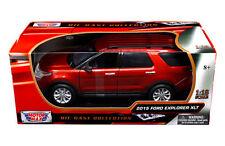 MOTOR MAX 1:18 2015 FORD EXPLORER XLT SUV 73186 Red Color Diecast Car
