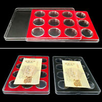 Coin Collection Box Protective Coins Display Case Storage Organizer Holder