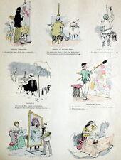 Artiste Peintre Peinture Chanson Gravure Ya des Dames Albert Guillaume