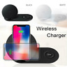 Fast Qi Wireless Charger Pad Duo For Samsung Galaxy Note 9 S9 Gear S3 Watch IS9
