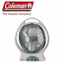 "COLEMAN 12"" 240 & 12 VOLT & RECHARGEABLE PORTABLE OSCILLATING FAN CAMP CAMPING"