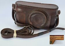 Leica Vintage Leather Camera Case +Strap For  II / III Series, Useable, Complete
