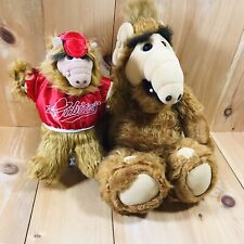 "Alien Productions Coleco 1986 Alf  19"" Stuffed Animal & 10"" Puppet Arbiters"