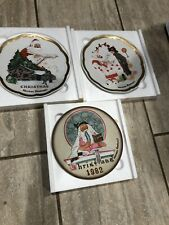 Three Christmas plates, from Dave Grossmas Design collection, Norman Rockwell