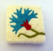 Natural soap with felted virgin wool covered, decorative needle hand made